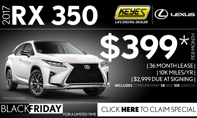 New 2017 Lexus RX 350 Premium Lease Special Serving Los Angeles, Van Nuys, and Beverly Hill, CA