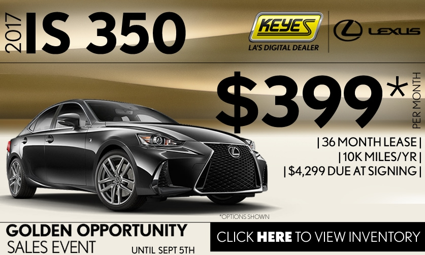 New 2017 Lexus IS 350 Premium Lease Special Serving Los Angeles, Van Nuys, and Beverly Hill, CA