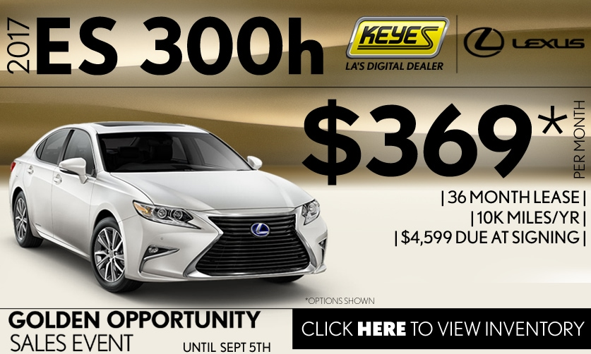 New 2017 Lexus ES 300h Lease Special Serving Los Angeles, Van Nuys, and Beverly Hill, CA