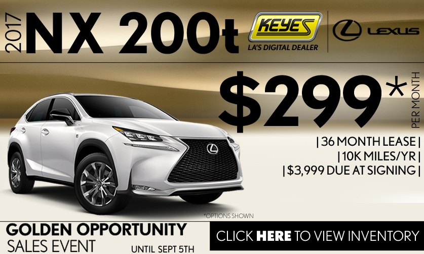 New 2017 Lexus NX 200t Premium Lease Special Serving Los Angeles, Van Nuys, and Beverly Hill, CA