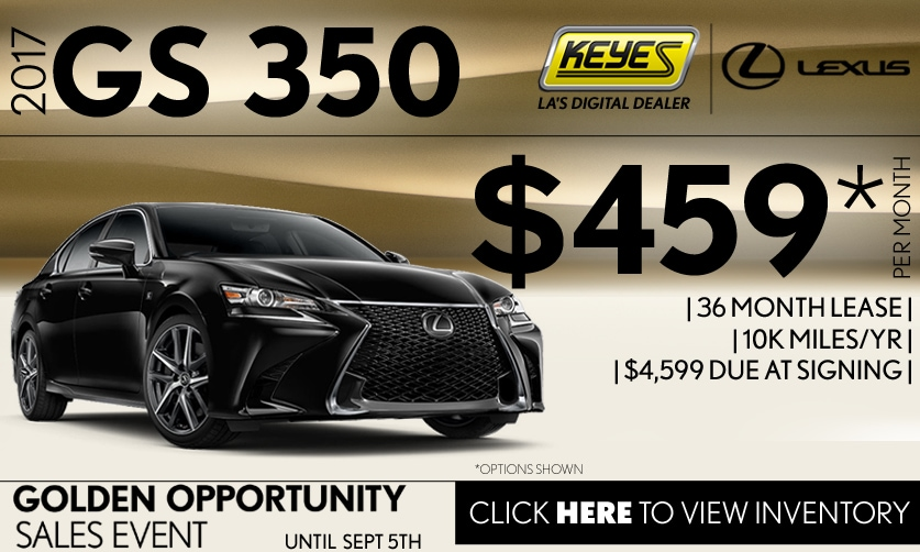 New 2017 Lexus GS 350 Premium Lease Special Serving Los Angeles, Van Nuys, and Beverly Hill, CA