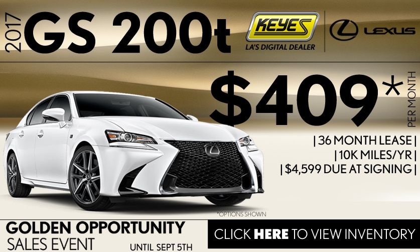 New 2017 Lexus GS 200t Premium Lease Special Serving Los Angeles, Van Nuys, and Beverly Hill, CA