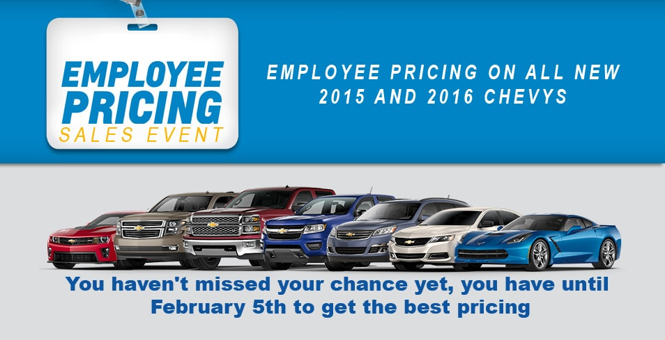 Chevrolet Employee Pricing For Sale