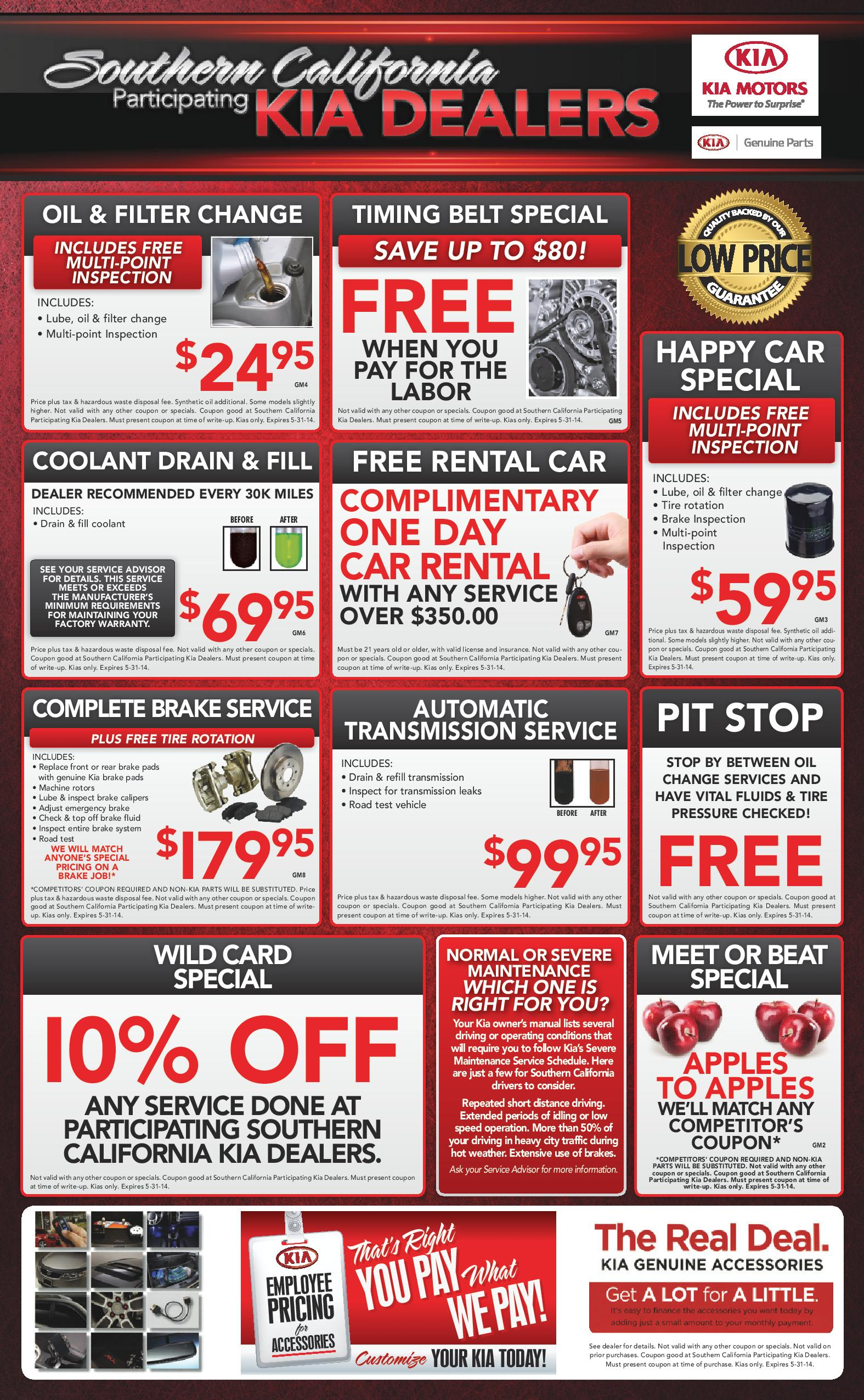 kia dealership oil change coupons thanksgiving deals