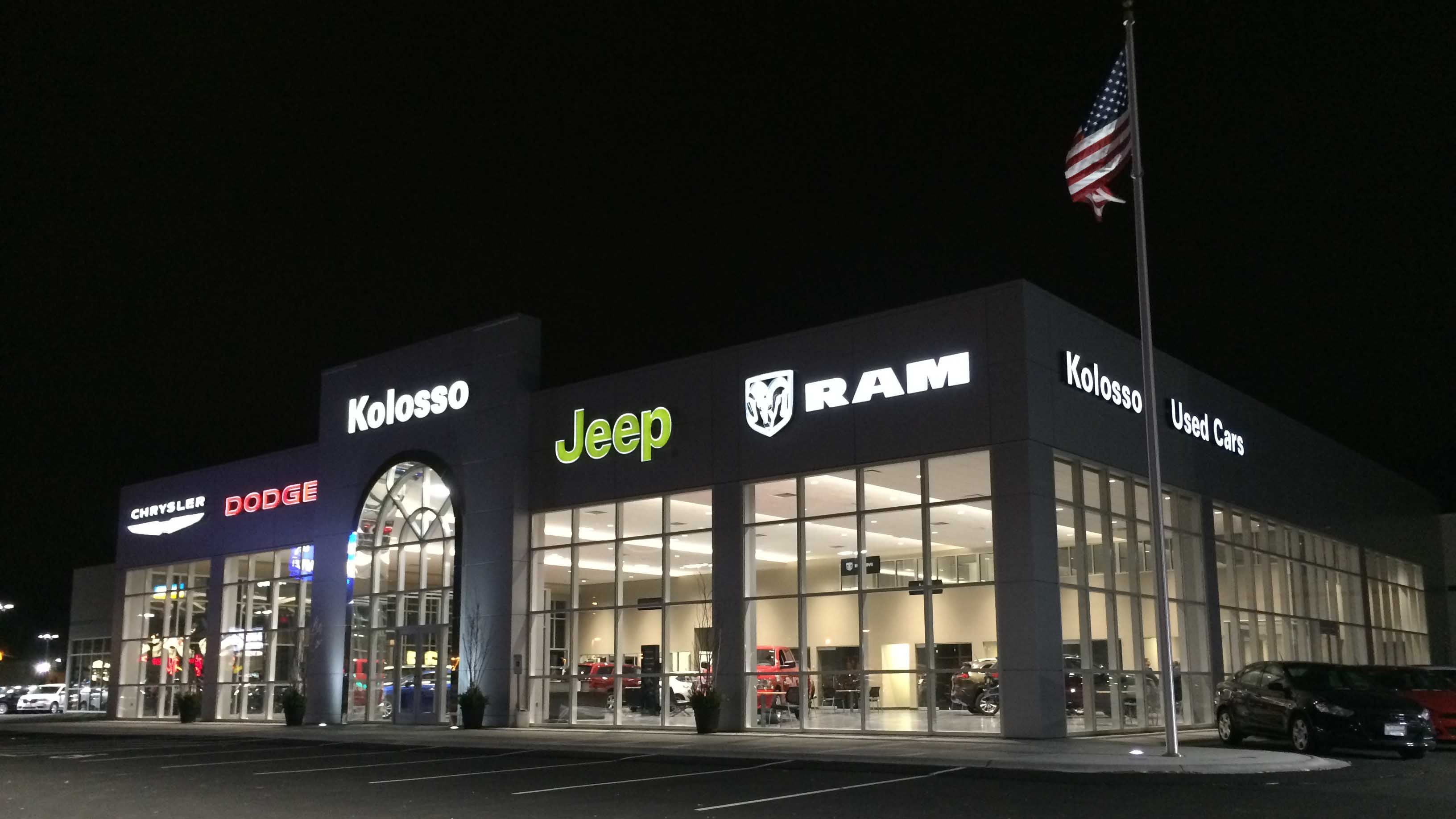 The kolosso chrysler jeep dodge ram service auto repair shop in appleton wisconsin