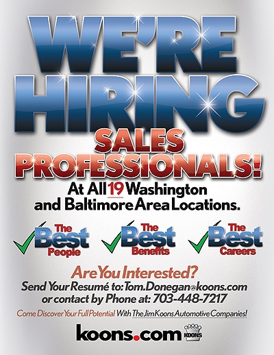 Employment Opportunities at Jim Koons Automotive | Serving Maryland, Virginia & Delaware