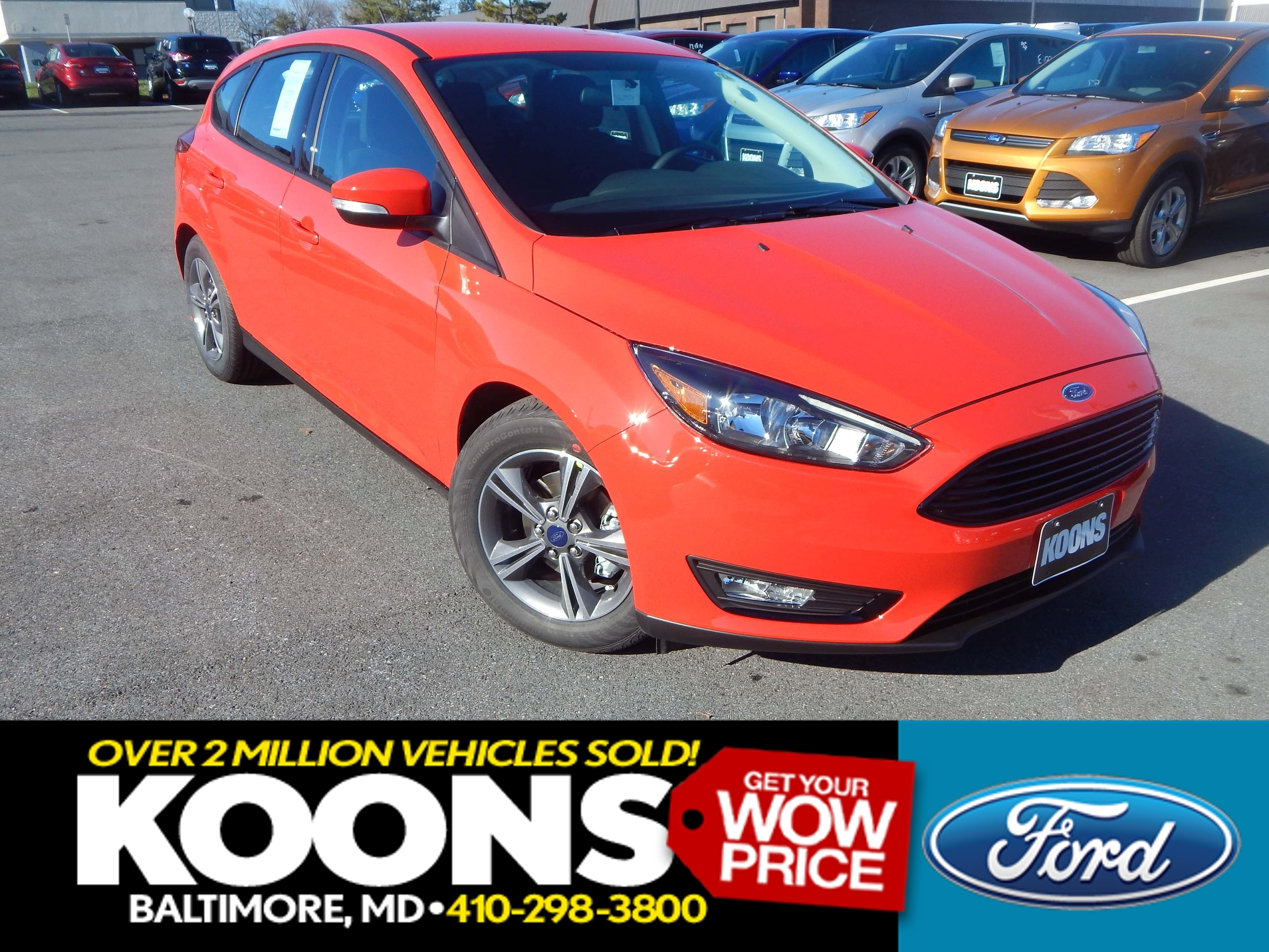 New 2016 Ford Focus, $15587