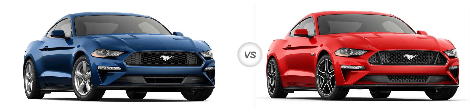 2018 Ford Mustang EcoBoost vs 2018 Ford Mustang GT