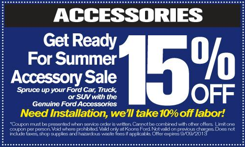 Koons Ford Service Coupon