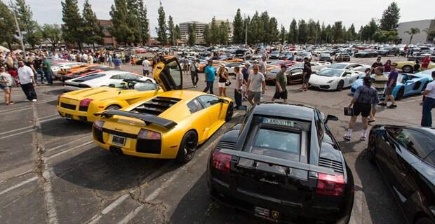 Lamborghini north los angeles supercar sunday event