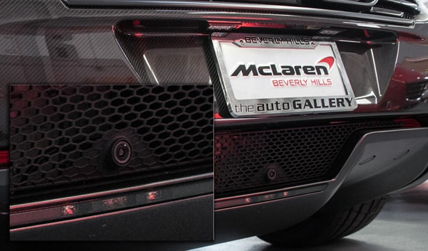 McLaren 12c back up camera kit upgrade mclaren beverly hills