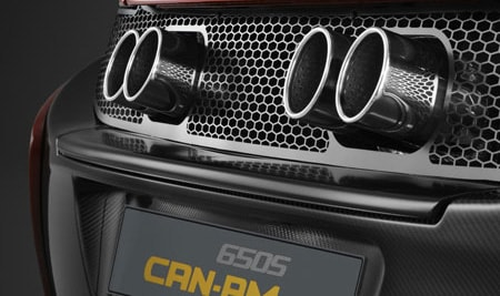 650s can-am exhaust system