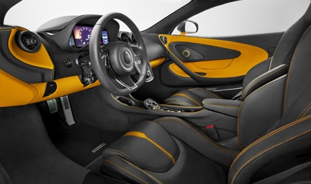sports series mclaren 570s interior shot