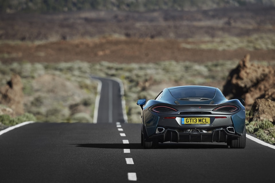 570gt mclaren sports car on the road
