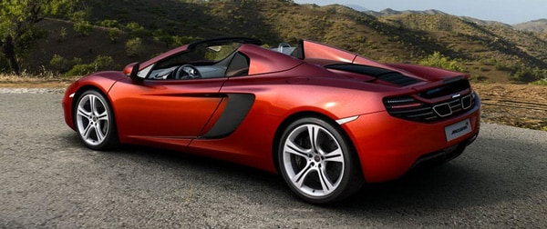 mclaren 12c spider open top
