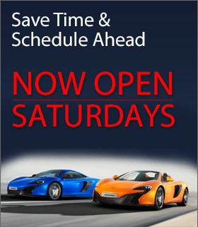 McLaren service center now open Saturdays