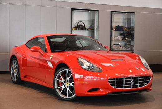 Pre-owned 2014 Ferrari California lease for $1,488.00 per month plus tax for 60 months based on 10,000 total miles. Total drive off due $20,371.09.