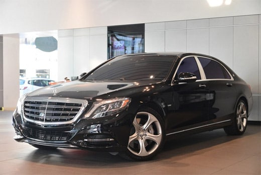 Pre-owned 2016 Mercedes-Benz S600 Maybach lease for $2,065.09 per month plus tax for 60 months based on 25,000 total miles. Total drive off due $15,483.28.