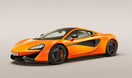new mclren 570s spirts series car exterior shot