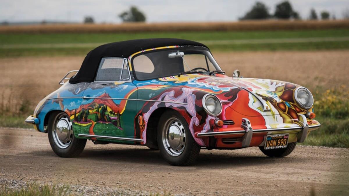 Psychedelic Porsche owned by Janis Joplin
