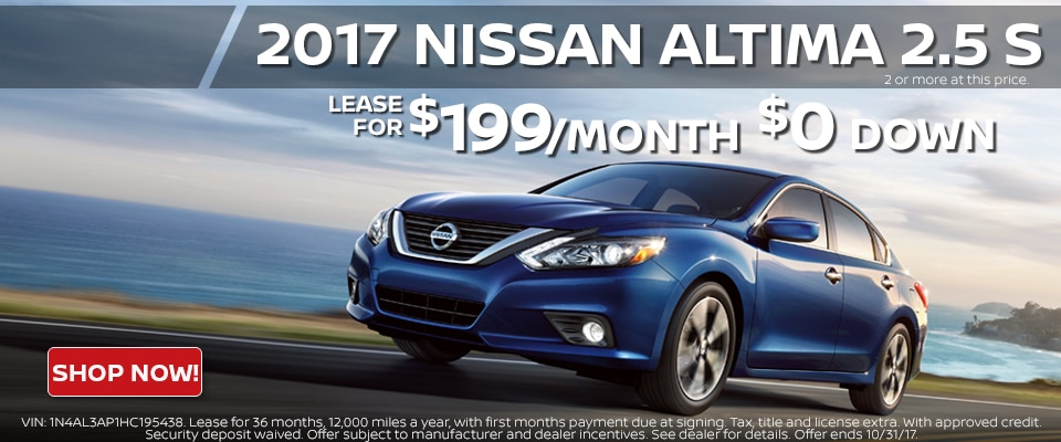 2017 Nissan Altima lease for only $199.00 a month