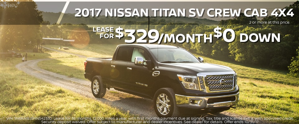 2017 Nissan Titan lease for only $319.00 a month