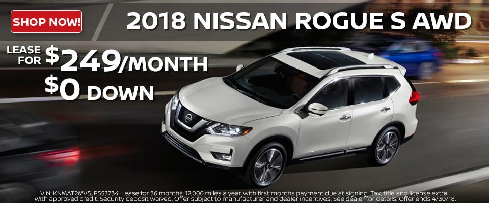 2018 Nissan Rogue lease deals at Council Bluffs Nissan dealership near Omaha