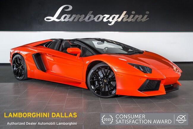 pre owned 2015 lamborghini aventador lp 700 4 roadster dallas tx