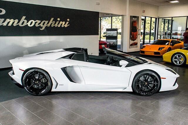pre owned 2014 lamborghini aventador lp 700 4 roadster dallas tx - Lamborghini Aventador Roadster White