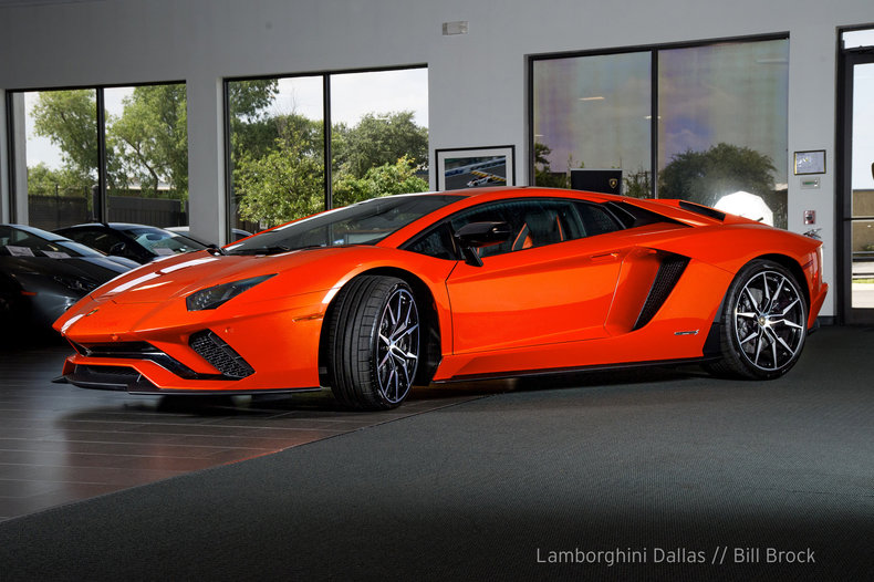 2018 lamborghini orange. Contemporary Lamborghini PreOwned 2018 Lamborghini Aventador S Coupe Dallas TX On Lamborghini Orange