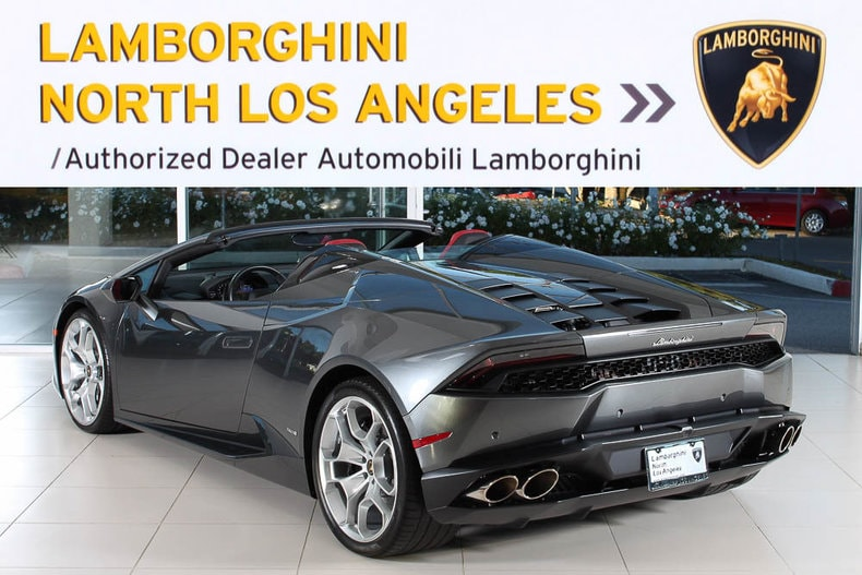 used 2016 lamborghini huracan spyder for sale calabasas ca. Black Bedroom Furniture Sets. Home Design Ideas