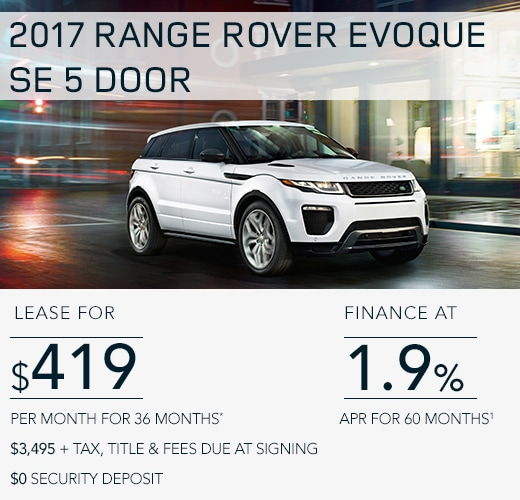 New Land Rover Specials Near Old Saybrook CT - Range rover evoque finance deals