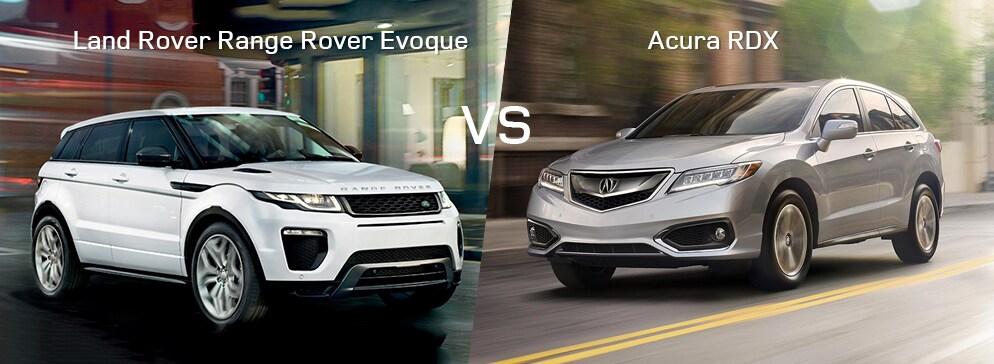 Land Rover Range Rover Evoque VS Acura RDX