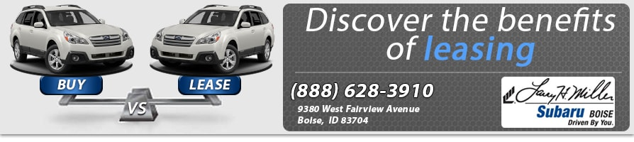 compare leasing vs  buying a subaru in boise  meridian