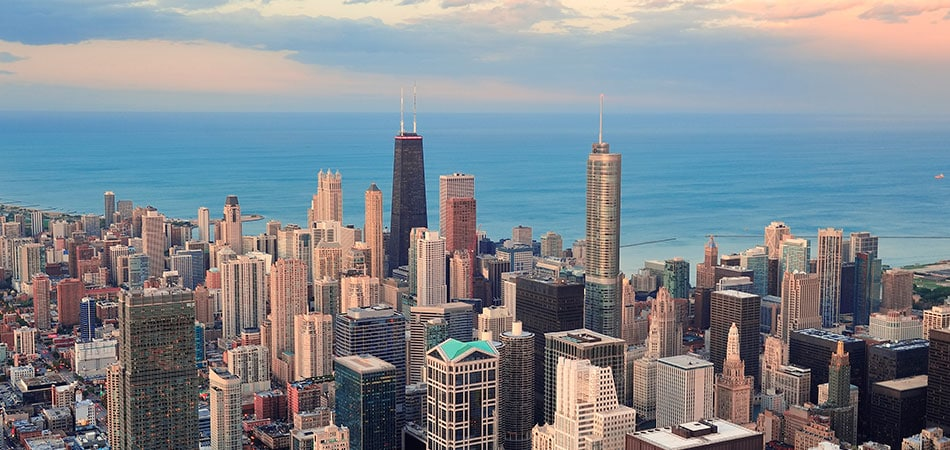 Scenic view of Chicago, IL