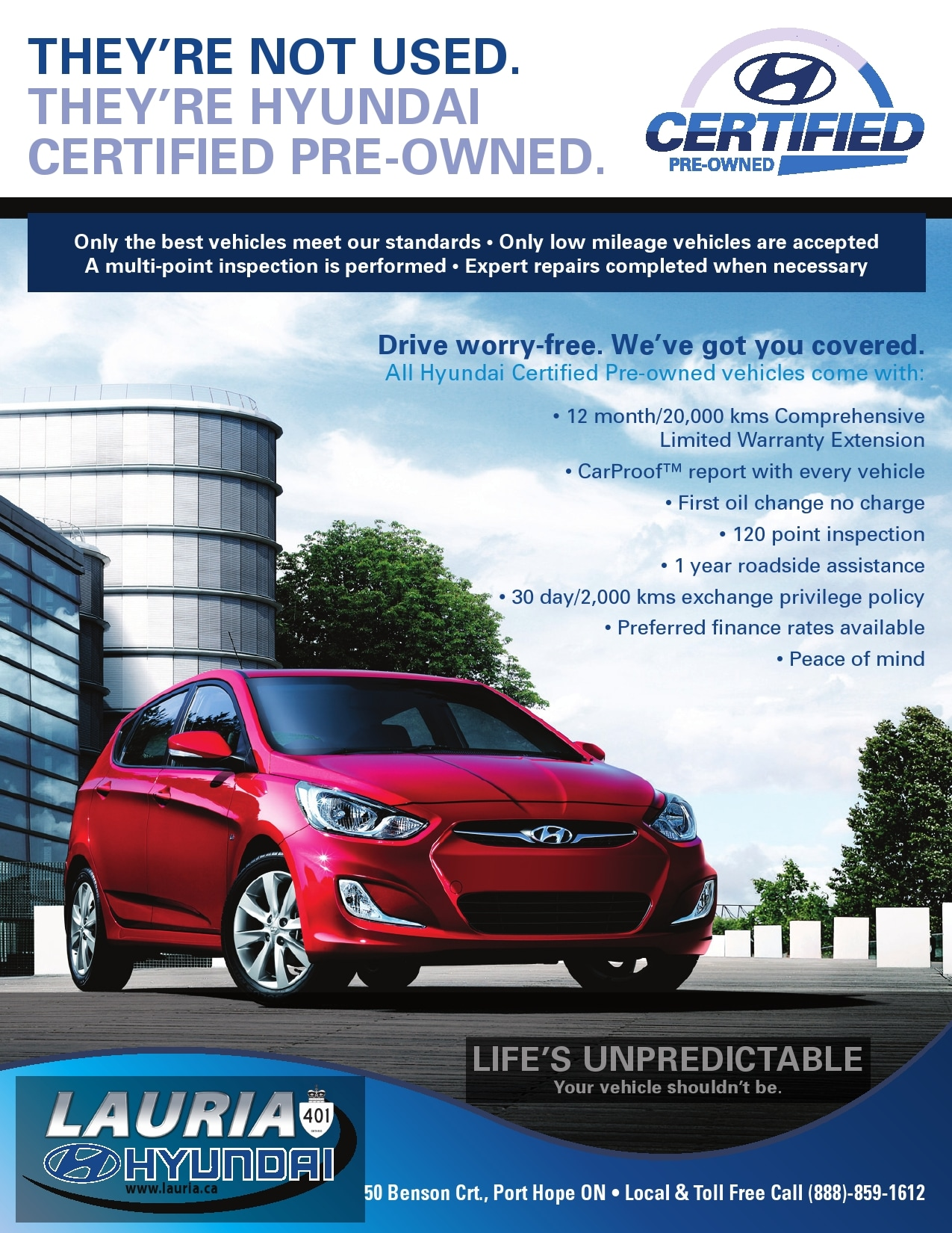 Lauria Hyundai Certified Pre Owned Used Cars in Port Hope