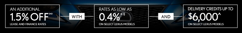 Lexus 3 Day Event October 12-14 Only