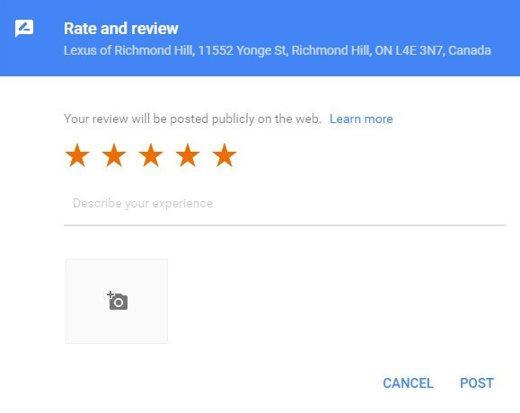 Review Lexus of Richmond Hill
