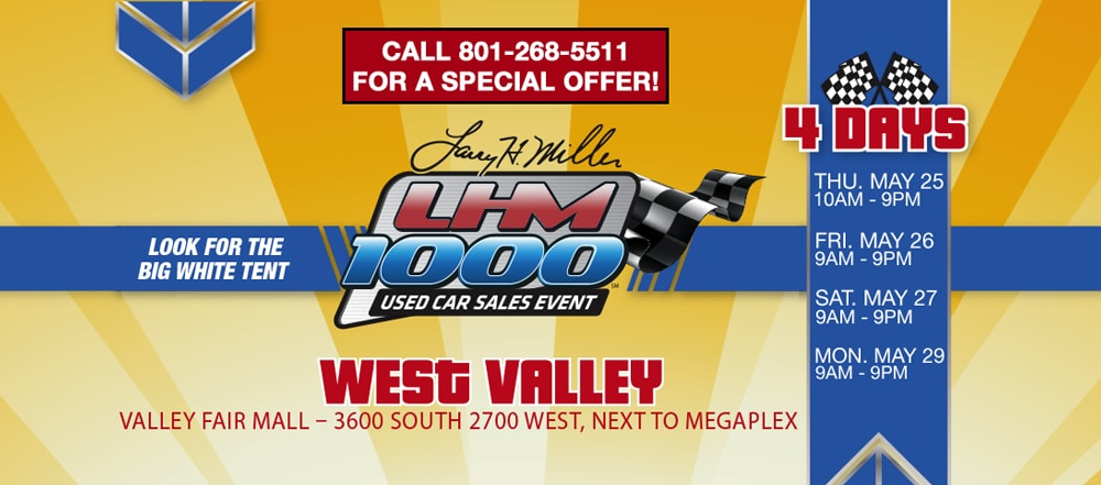 Lhm 1000 used car sales event in murray ut for Larry miller honda murray