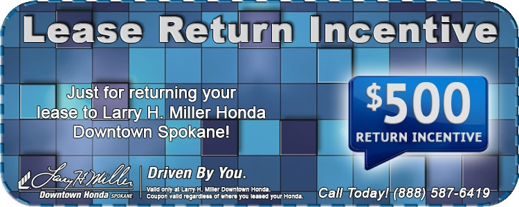 honda lease return center in spokane larry h miller downtown honda spokane. Black Bedroom Furniture Sets. Home Design Ideas