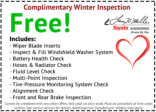 Winter Car Inspection Coupon Albuquerque