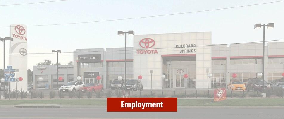 Toyota Dealer In Colorado Springs Car Loans Auto Repair