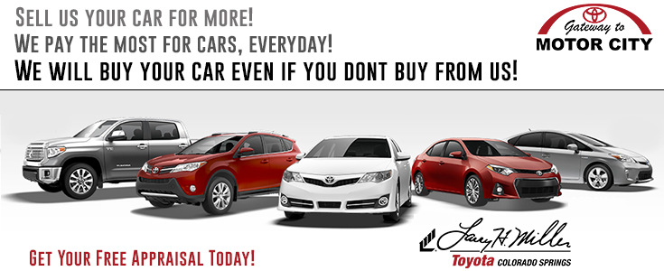 Selling your used car to a dealership larry h miller for Toyota motor city colorado springs
