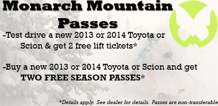 Free Monarch Ski Passes