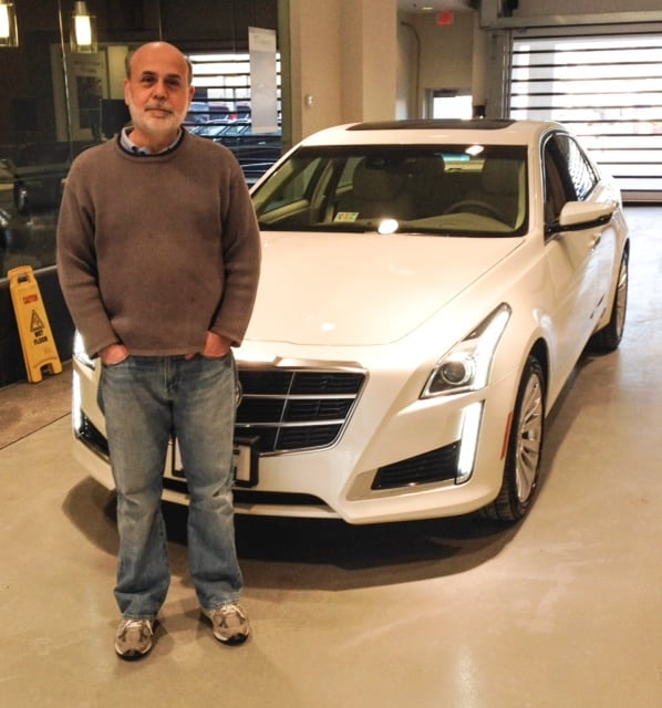 photo of Ben Bernanke  - car