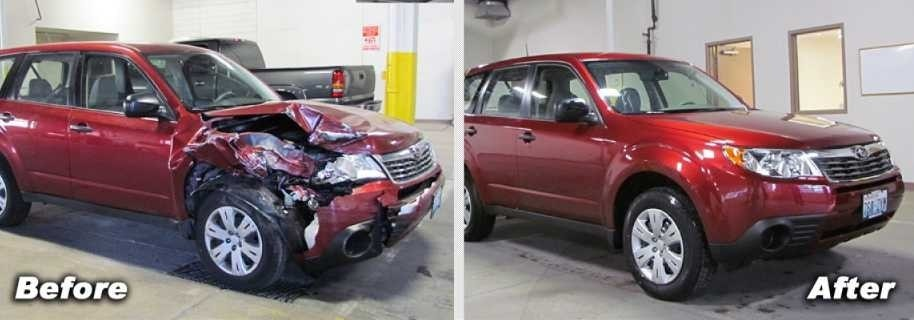 Subaru Before and After - Lithia Downtown Body and Paint