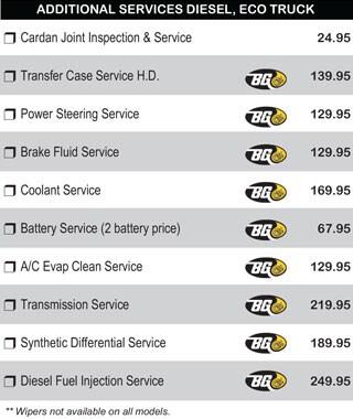 Diesel Additional Services