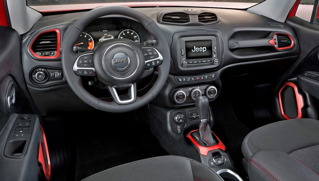 2018 jeep renegade colors. brilliant renegade one look at the interior of 2018 jeep renegade  on jeep renegade colors