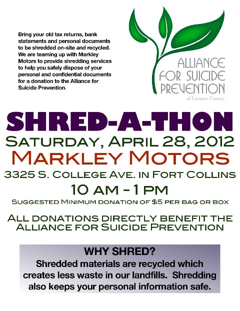 Markley motors corner markley motors shred a thon april for Markley motors service coupons