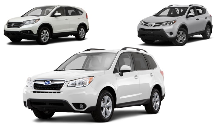Mark miller subaru utah forester vs crv rav4 comparison for Honda crv vs subaru forester